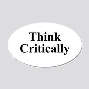 Think Critically 20x12 Oval Wall Decal