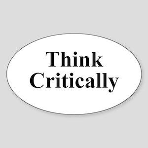 Think Critically Sticker (Oval)
