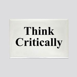 Think Critically Rectangle Magnet