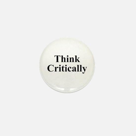 Think Critically Mini Button
