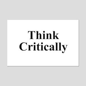 Think Critically Mini Poster Print