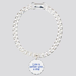 Life is better with a dog-Kri blue Bracelet