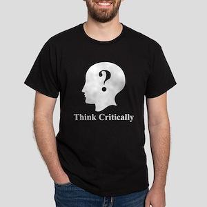 Think Critically Logo Dark T-Shirt