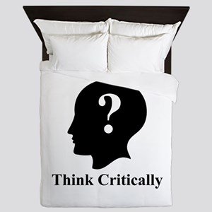 Think Critically Logo Queen Duvet