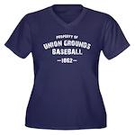 Union Ground Women's Plus Size V-Neck Dark T-Shirt
