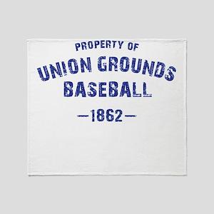 Union Grounds Baseball Throw Blanket