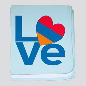 Blue Armenia LOVE baby blanket