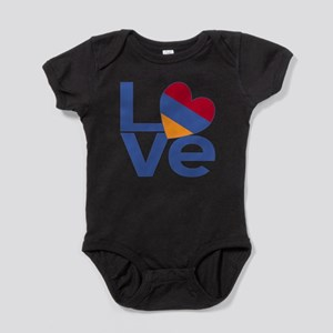 Blue Armenia LOVE Baby Bodysuit