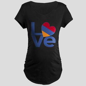 Blue Armenia LOVE Maternity T-Shirt
