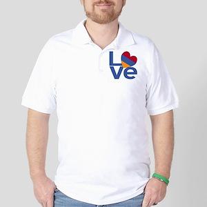 Blue Armenia LOVE Golf Shirt