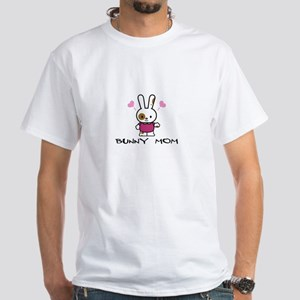 Bunny Mom White T-shirt