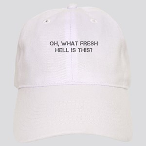 Oh what fresh hell is this-Cap gray Baseball Cap