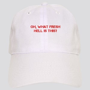 Oh what fresh hell is this-Cap red Baseball Cap
