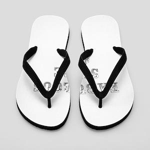 fabulous since 1965-Max gray Flip Flops