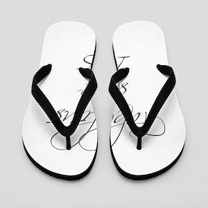 fabulous since 1965-Scr gray Flip Flops