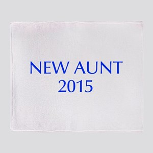 new aunt 2015-Opt blue Throw Blanket