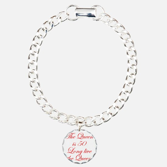 Queen is 50-Edw red Bracelet