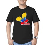 Cute Colombian Butterf Men's Fitted T-Shirt (dark)