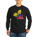 Cute Colombian Butterfly Long Sleeve Dark T-Shirt