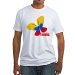 Cute Colombian Butterfly Fitted T-Shirt