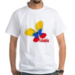 Cute Colombian Butterfly White T-Shirt