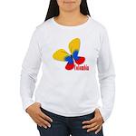 Cute Colombian Butterf Women's Long Sleeve T-Shirt