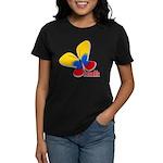 Cute Colombian Butterfly Women's Dark T-Shirt