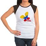Cute Colombian Butterfl Women's Cap Sleeve T-Shirt