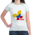 Cute Colombian Butterfly Jr. Ringer T-Shirt