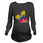 Cute Colombian Butte Long Sleeve Maternity T-Shirt