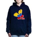 Cute Colombian Butterfly Women's Hooded Sweatshirt
