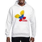 Cute Colombian Butterfly Hooded Sweatshirt