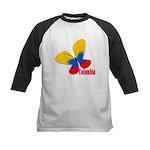 Cute Colombian Butterfly Kids Baseball Jersey