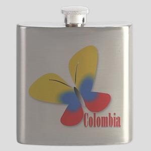 Cute Colombian Butterfly Flask