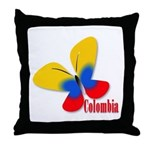 Cute Colombian Butterfly Throw Pillow