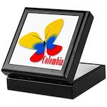 Cute Colombian Butterfly Keepsake Box