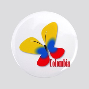 "Cute Colombian Butterfly 3.5"" Button"