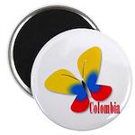 Cute Colombian Butterfly Magnet