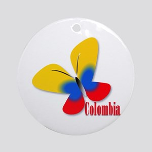 Cute Colombian Butterfly Ornament (Round)