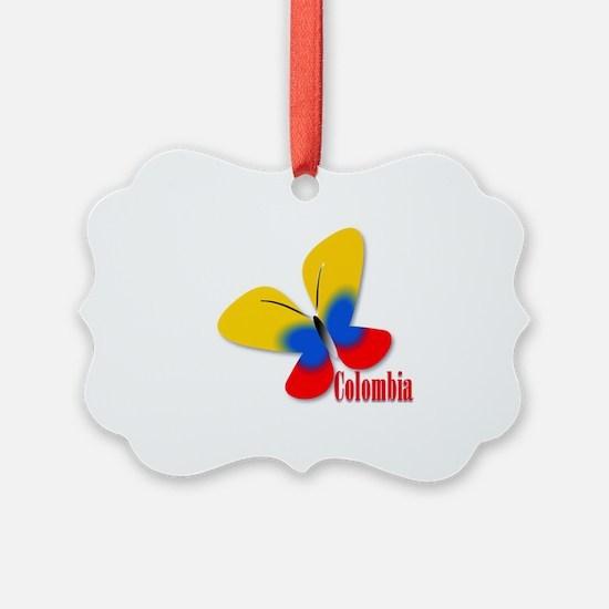 Cute Colombian Butterfly Ornament