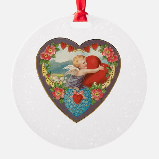 Vintage Valentine Heart Ornament