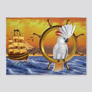 COCKATOO TREASURE QUEST 5'x7'Area Rug