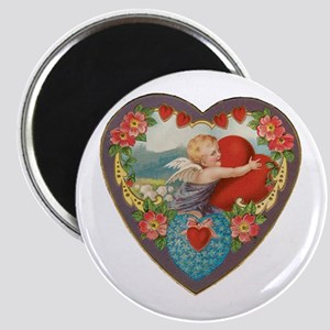 Vintage Valentine Heart Magnets