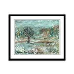 Winter in England Framed Panel Print