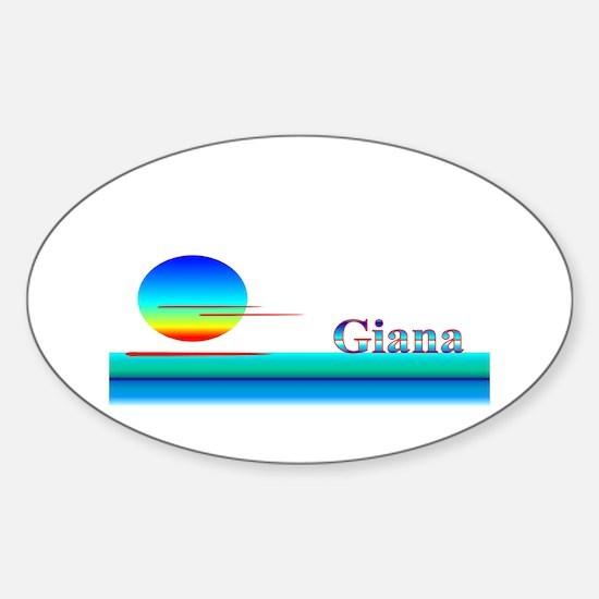 Giana Oval Decal