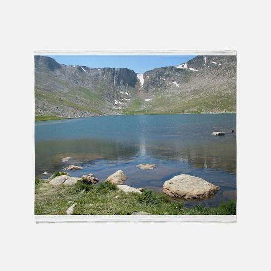 Summit Lake Mt. Evans 2 Throw Blanket