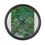 Waterfall and Trees Large Wall Clock