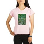 Waterfall and Trees Performance Dry T-Shirt