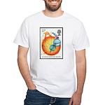 Newton White T-Shirt Astronomy Gift