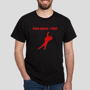 Red Speed Skater Silhouette (Custom) T-Shirt